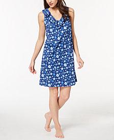 Lauren Ralph Lauren Classic Knits Floral-Print Ruffle-Trim Nightgown
