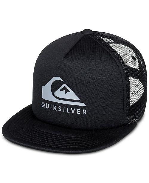 877d0093767 ... Quiksilver Men s Foamslay Logo-Print Snapback ...