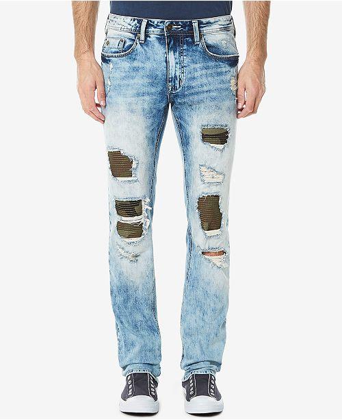 Men's Evan-X Slim-Straight Fit Stretch Ripped Jeans