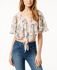 ASTR The Label  Jasmine Floral-Print Cropped Top