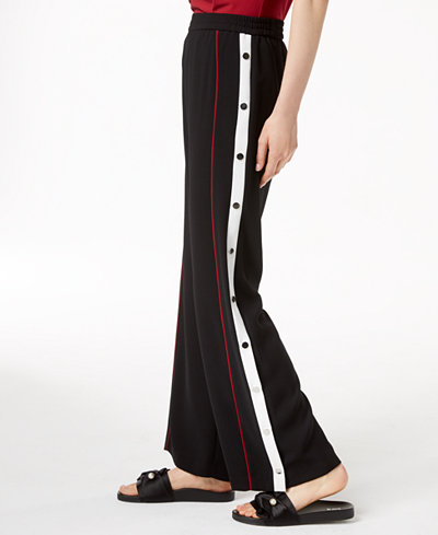 Bar III Snap-Detail Track Pants, Created for Macy's