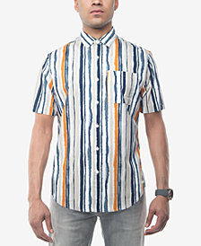 Sean John Men's Watercolor Stripe Shirt, Created for Macy's