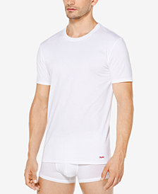 Michael Kors Men's Performance Cotton Crew-Neck Undershirts, 3-Pack