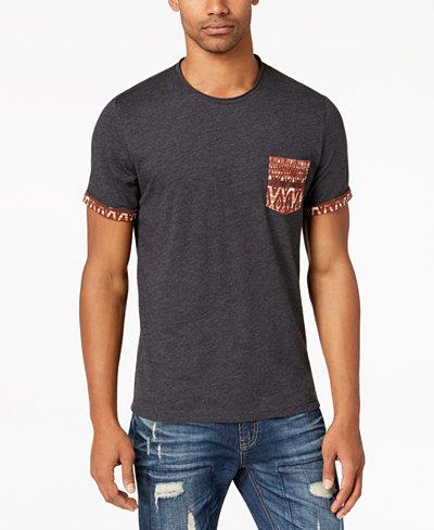 American Rag Men's Diamond Stripe Pocket T-Shirt, Created for Macy's