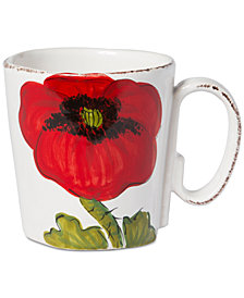 Vietri Lastra Poppy Collection Mug