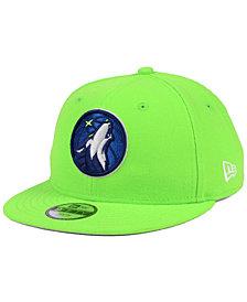 New Era Boys' Minnesota Timberwolves Basic Link 9FIFTY Snapback Cap