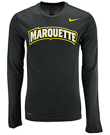 Nike Men's Marquette Golden Eagles Dri-FIT Legend Wordmark Long Sleeve T-Shirt