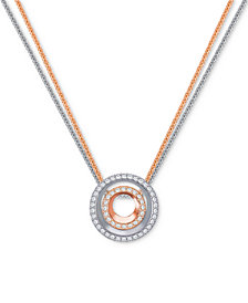 "Swarovski Two-Tone 2-Pc. Set Crystal Circle Interlocking 16-1/2"" Pendant Necklaces"