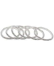 Say Yes to the Prom Silver-Tone 6-Pc. Set Crystal Stretch Bracelets
