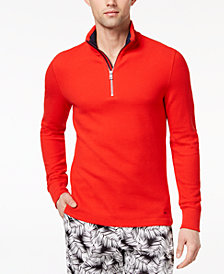 Michael Kors Men's Textured Jacquard 1/4-Zip Pullover