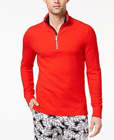 Michael Kors Men's Textured Jacquard 1/4-Zip Pullover