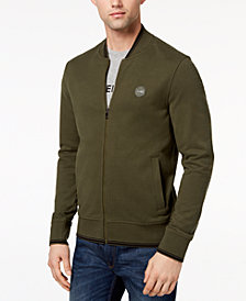 Michael Kors Men's Logo-Print French Terry Fleece Bomber Jacket