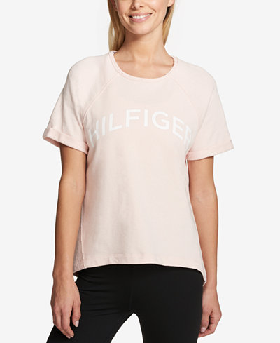Tommy Hilfiger Sport Cuffed-Sleeve Graphic T-Shirt, Created for Macy's