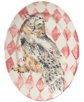 Into the Woods Collection Owl Oval Platter