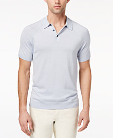 Michael Kors Men's Knit Raglan-Sleeve Polo