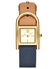 c98fb6c0409e8 Tory Burch Women s Surrey Rose Gold-Tone Stainless Steel Bracelet ...