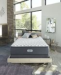 "Beautyrest Platinum Preferred Chestnut Hill 12.5"" Extra Firm Mattress Set - Queen with Adjustable Base"