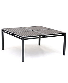 "Aluminum 62"" Square Outdoor Dining Table, Created for Macy's"