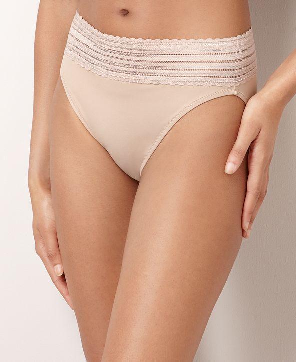 Warner's No Pinching No Problems Lace Hi-Cut Brief Underwear 5109