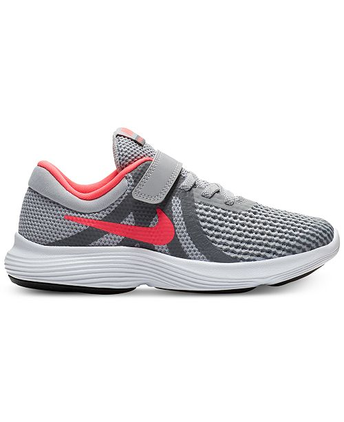 d7d554adb381 Nike Little Girls' Revolution 4 Athletic Sneakers from Finish Line ...