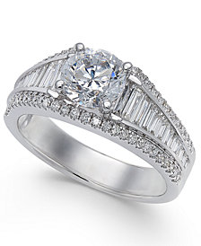 Diamond Baguette Engagement Ring (1-2/3 ct. t.w.) in 14k White Gold