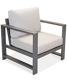 Aruba Grey Aluminum Outdoor Club Chair with Sunbrella® Cushion, Created for Macy's