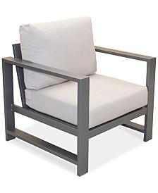 Aruba Grey Aluminum Outdoor Club Chair with Sunbrella® Cushion, Created for Macy's