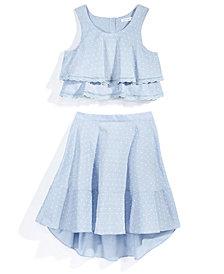 Nowadays x Bailee Madison 2-Pc. Swiss Dot Top & Skirt Set, Big Girls & Juniors