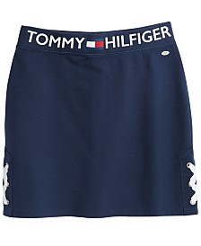 Tommy Hilfiger Lace-Up Skirt, Big Girls