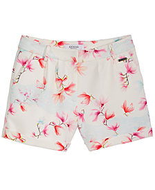 GUESS Floral-Print Shorts, Big Girls