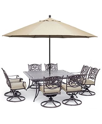 Chateau Outdoor Aluminum 9-Pc. Dining Set (64