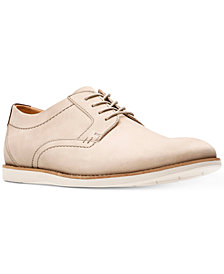 Clarks Men's Raharto Suede Plain-Toe Oxfords