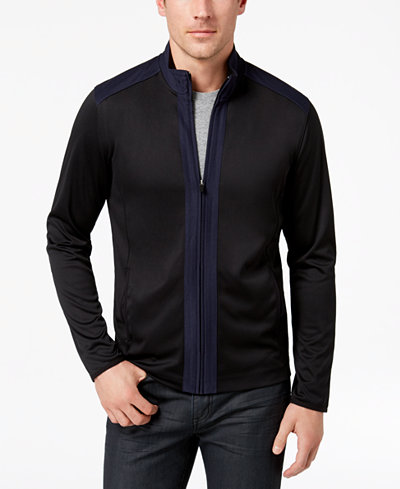 Alfani Men's Pieced Colorblocked Full-Zip Tech Jacket, Created for Macy's