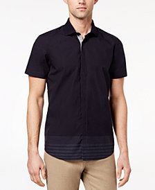 Ryan Seacrest Distinction™ Men's Slim-Fit Navy Stripe Sport Shirt, Created for Macy's
