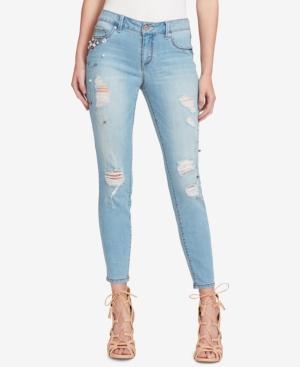 Jessica Simpson Kiss Me Ripped Skinny Jeans