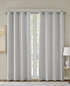 "SunSmart Emmer 50"" x 84"" Solid Jacquard Room Darkening Window Panel"