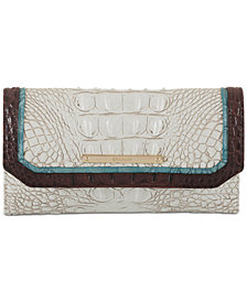 Brahmin Soraya Coconut Soft Checkbook Wallet