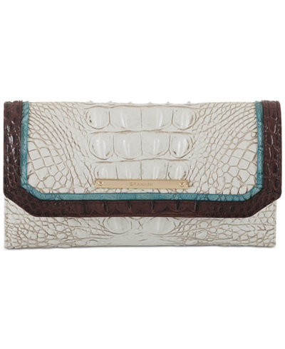 Brahmin Soraya Coconut Soft Checkbook Wallet