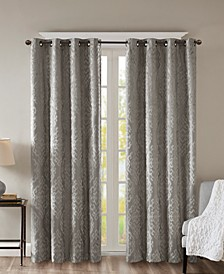 "Mirage 50"" x 84"" Knit Damask Total Blackout Window Panel"