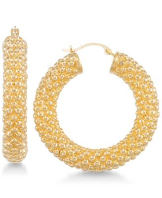 Signature Gold Chunky Hoop Earrings in 14k Gold over Resin