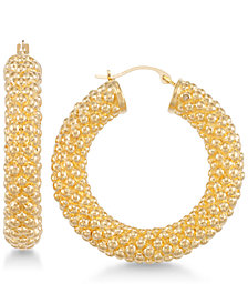 Signature Gold™ Chunky Hoop Earrings in 14k Gold over Resin