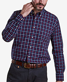 Barbour Men's Henry Navy Tattersall Check Oxford Shirt