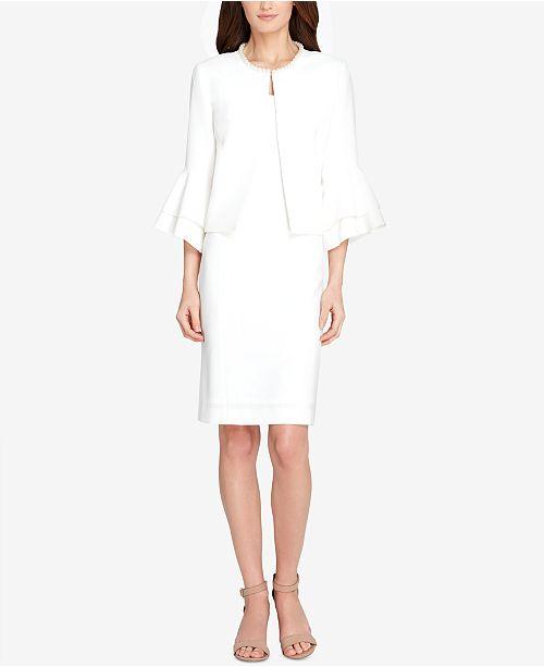 2d9f86e1 Tahari ASL Faux-Pearl-Trim Jacket & Sheath Dress & Reviews - Wear ...