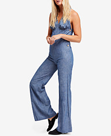 Free People Dance All Night Flared Open-Back Jumpsuit