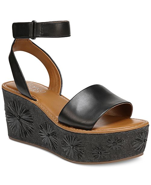 b9c3221e3a8 Franco Sarto Jovie Platform Wedge Sandals   Reviews - Sandals   Flip ...