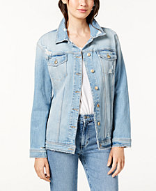 Joe's Jeans The Oversized Denim Jacket w/ Distressing