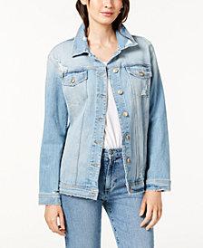 Joe's Jeans The Oversized Denim Jacket w/ Distressing