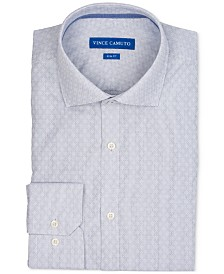 Vince Camuto Men's Slim-Fit Comfort Stretch Patterned Dress Shirt