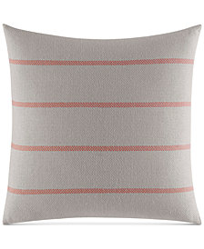 "Nautica Ripple Woven Stripe 18"" Square Decorative Pillow"
