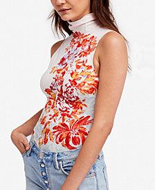 Free People Pixie Printed Turtleneck Bodysuit